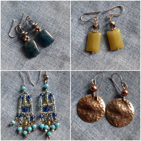 4 pairs BOHO earrings